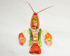 Whole Poached Lobster